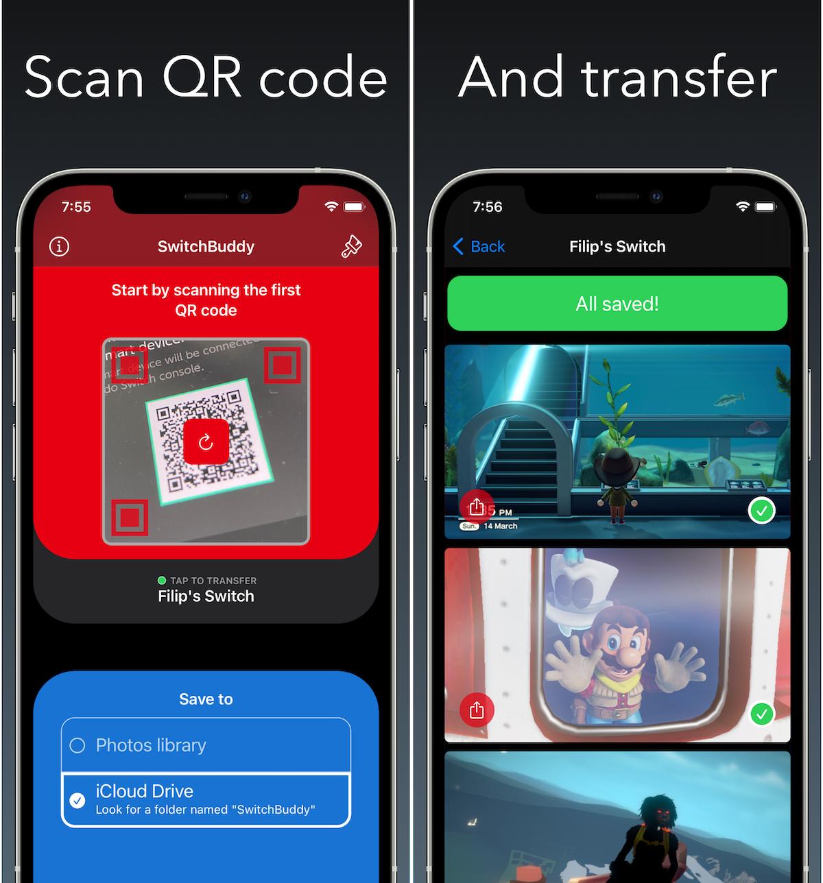SwitchBuddy example App Store screenshots